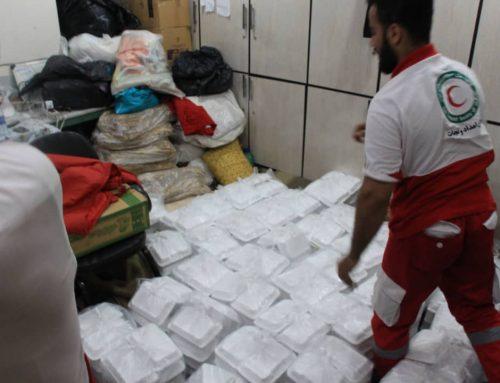 گزارش تصویری پخت و توزیع ۱۰۰۰ پرس غذا در منطقه سيل زده الهايي