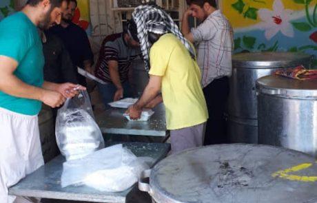 کمپین تهیه غذای گرم در مناطق سیل زده